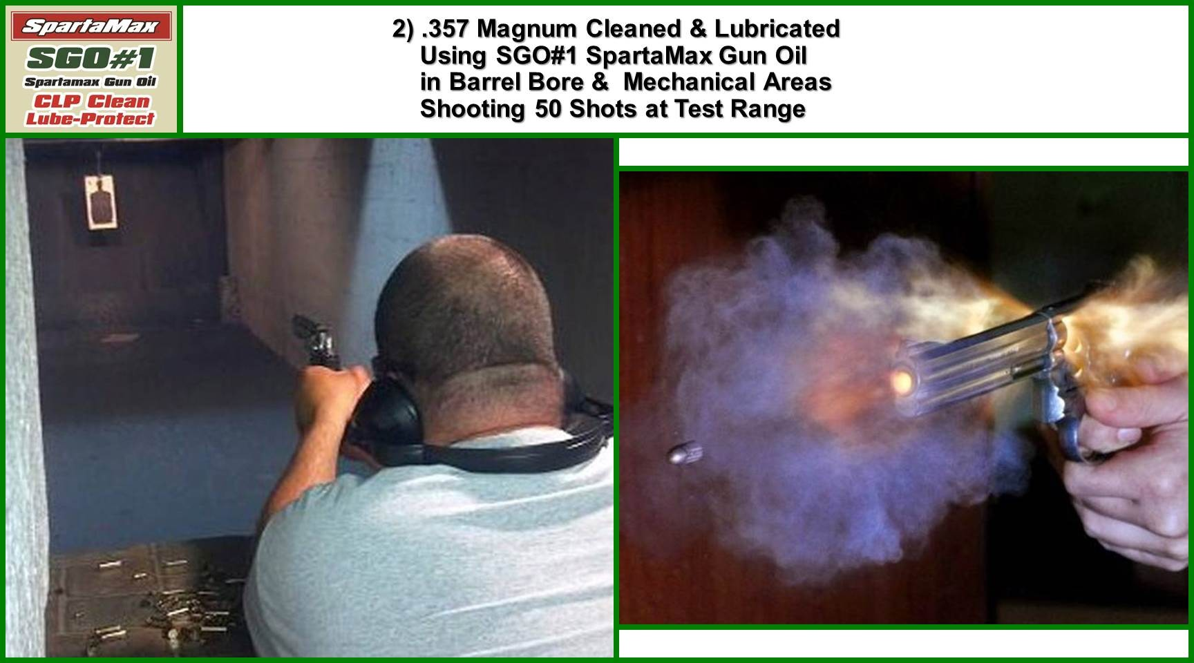 .357 Magnum Revolver 50 shot test after